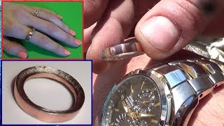 How to Make a RING out of a COIN  Suprise Your Loved One for 25 CENTS! Great VALENTINES  GIFT
