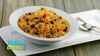 मैक्सिकन चावल (Mexican Rice / Easy to Make Mexican Rice with Kidney Beans) by Tarla Dalal