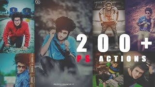 200 + Photoshop Action Free Download