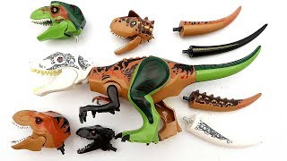 Dinosaur For Kids - Funny Wrong Heads And Tails Video Jurassic World Dinosaur Toys 혼종공룡