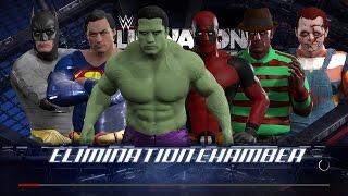 WWE 2K17 Wtf Deadpool vs Hulk vs Superman vs Batman vs Chucky vs Freddy