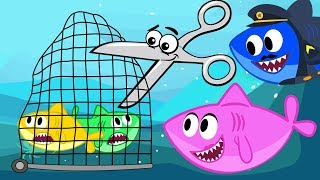 Fishes in Net Song - Baby Shark Parent Advise Nursery Rhymes Cartoon