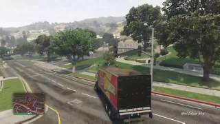 Driving With Franklin: Truck Driving (GTA 5)