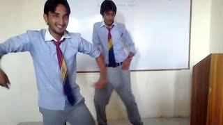 Pakistani college girls boys fun in class