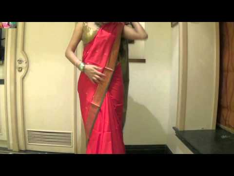 How To Wear Saree Like Air-hostess (Corporate Sari Drape Method)
