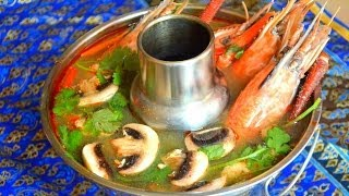 How to Make Thai Tom Yum Goong! ต้มยำกุ้งรสเด็ด Spicy & Sour Soup/Shrimp Tom Yam