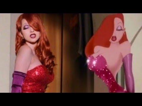 Jessica Rabbit Transformation Makeup Tutorial