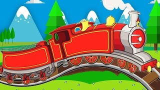 Trains for children - the Train - Mining for gold - Trains for kids - Videos and cartoons part 1