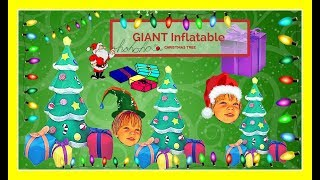 Giant Inflatable Christmas Tree Light Up & blow up Gift Boxes Joiedomi [inflatable decorations]🎄