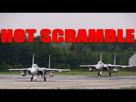 Real HOT SCRAMBLE!!! 領空侵犯 北の防人緊急発進!!! F-15J イーグル 航空自衛隊千歳基地