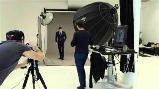 Behind the scenes fashion photoshoot