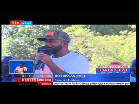 Serikali yashambuliwa katika mkutano wa ODM huko Tononoka Mombasa