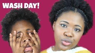 NATURAL HAIR WASH DAY  4b/c Hair