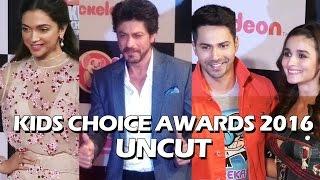 UNCUT - Kids Choice Awards 2016 | Shahrukh Khan, Deepika Padukone, Varun Dhawan, Alia Bhatt