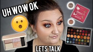 LETS TALK.. |  GET READY WITH ME USING NEW PRODUCTS | LAURA LEE X COLOURPOP, MORPHE 39A ETC..