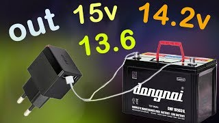 Upgrade your phone charger to charge the 12v battery, generate 13 5v, 14 2v on the mobile charger
