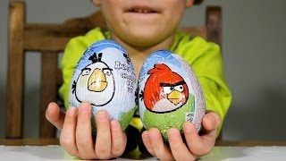 Angry Birds Surprise Eggs Chocolate with Toy from Fazer