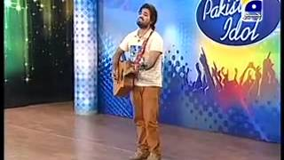 Zaman Baigh in Pakistan Idol Lahore Auditions