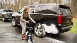 Blue Clean 1650 PSI Pressure Washer w/ Turbo Nozzle and Wash Brush on QVC
