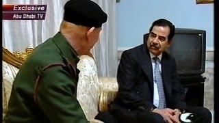 السيد الرئيس صدام حسين يستقبل المجاهد عزت ابراهيم  ( رد القائد علي الامارات بتنحيته عن الرئاسه )