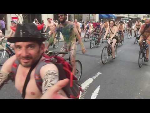 Naked Bike Ride 2016 Philadelphia ( pnbr 2016 ) part 1 of 4 #slowmotion #rittenhouse #square
