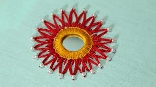 Hand Embroidery Designs   Mirror work design   Stitch and Flower-125