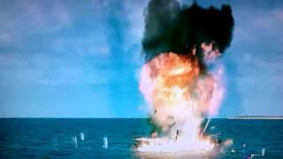 Damian explocion en el mar