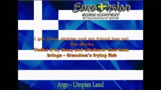 Eurovision 2016 - Greece - Argo - Utopian Land - English Lyrics Version HD HQ