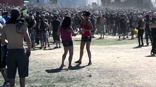 Girls Dancing to Metal