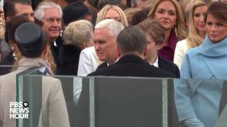 Mike Pence enters Inauguration Day 2017 ceremony