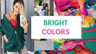 TREND REPORT || Shopping for BRIGHT COLORS for SS17
