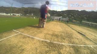 Opening batsmen Alastair Cook & Jonathan Trott face fast bowling - GoPro footage