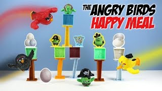The Angry Birds Movie McDonalds Happy Meal Toys Launcher Figures 2016