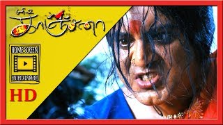 The ghost gets trapped   Kanchana Movie Scenes   Ghost reveals her story   Sarathkumar as Kanchana