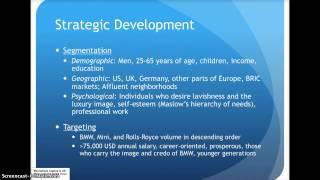 Phillip Davis - BMW Marketing Plan
