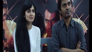 Nawazuddin Siddiqui and Niharika Singh at MISS LOVELY press conference.