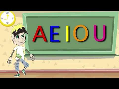 La Canción de las Vocales A E I O U Educación Infantil Pre escolar