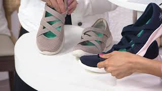 Skechers YOU Knit Cross-Strap Mary Janes - Vanity on QVC