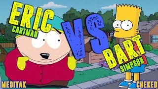 Bart Simpson Vs Eric Cartman || BATALLA DE RAP || Mediyak Ft Cheked | RAP CARTOON