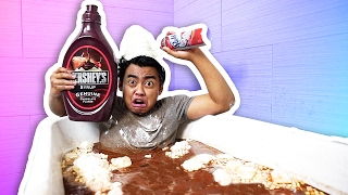 HOT CHOCOLATE BATH CHALLENGE!