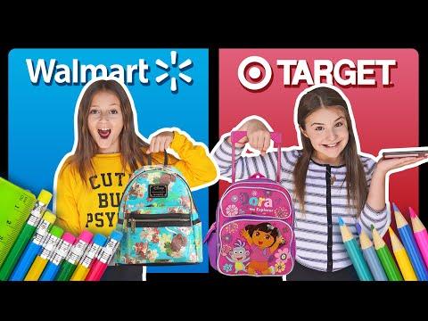 BACK TO SCHOOL SHOPPING HAUL Target vs Walmart CHALLENGE ✏️📚 Sophie Fergi Piper Rockelle
