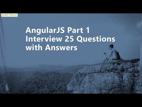 AngularJS Part 1 Interview Questions with Answers