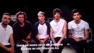 WE ARE TOUR-Film One Direction INTERVISTA PRIMA PARTE (WHERE WE ARE TOUR MILANO SAN SIRO)