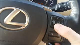 Lexus NX 200t oil maintenance light reset