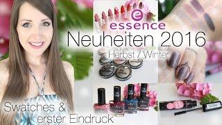 essence DIE Neuheiten 2016 I Swatches & erster Eindruck (Herbst / Winter)