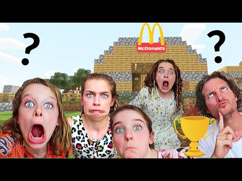 WHICH KID BUILDS BEST RESTAURANT winner announced Minecraft Gaming w The Norris Nuts