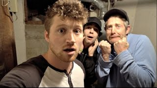 OVERNIGHT CHALLENGE IN OUR CREEPY BASEMENT!!