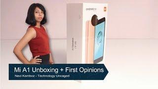 Mi A1 Unboxing + First opinions   Fingerprint Sensor Speedtest