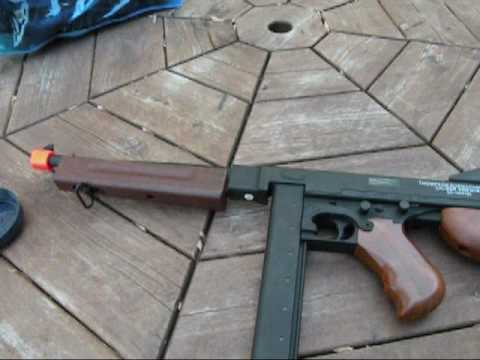Thompson M1A1 AEG Review Firing Test