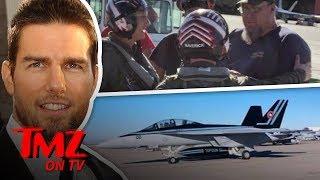Tom Cruise AKA Capt. Pete Maverick Reporting For Flight Duty | TMZ TV